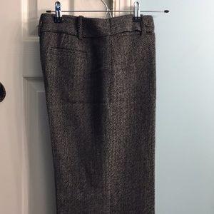 Ann Taylor dress pants. Size 2. Black tweed
